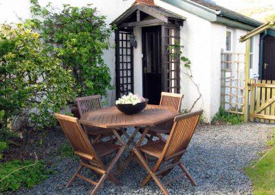 Croftside - entrance and patio