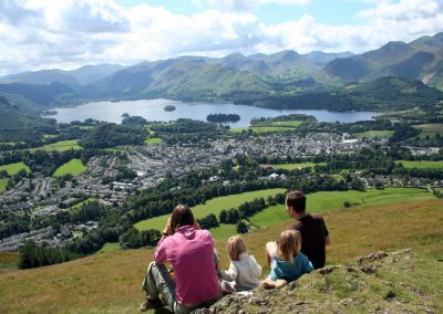The view from Latrigg looking down on Keswick and Derwentwater